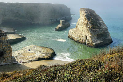 Photograph - Cali Coast Shark Fin Cove 3 by Jeff Brunton
