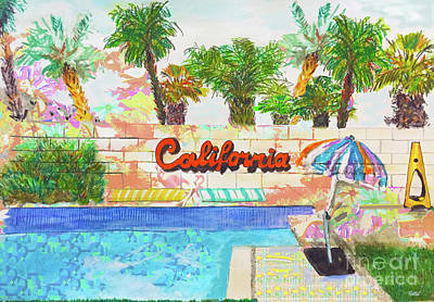 Mixed Media - Cali Life by Beth Saffer