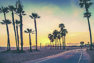 Santa Monica Photograph - Cali Sunset by Az Jackson