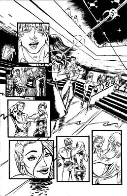 Dance Floor Drawing - Caliber Party Crasher Page 3 by Weston Duggan-Starr