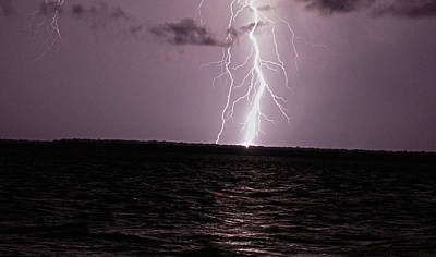 Calibogue Island Lightning Strike Art Print by Ethan  Bryant