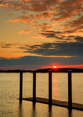 Calibogue Sound Sunset Art Print by Phill Doherty