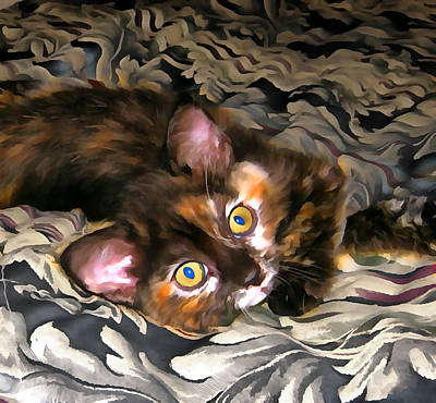 Digital Art - Calico Annie 01 by Ruth Moratz