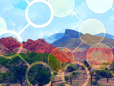 Las Vegas Artist Mixed Media - Calico Basin by Michelle Dallocchio