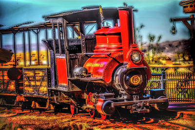 Headlight Photograph - Calico Beautiful Red Train by Garry Gay