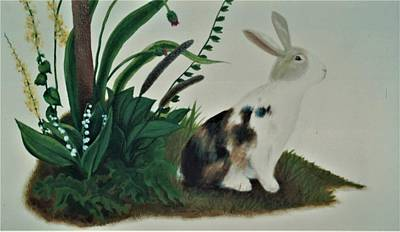 Painting - Calico Bunny by Suzn Art Memorial