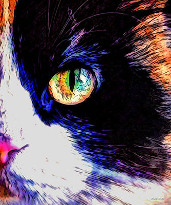 Art Print featuring the photograph Calico Cat by Kathy Kelly