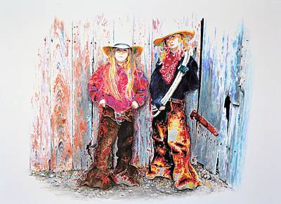 Painting - Calico Cowgirls by Traci Goebel