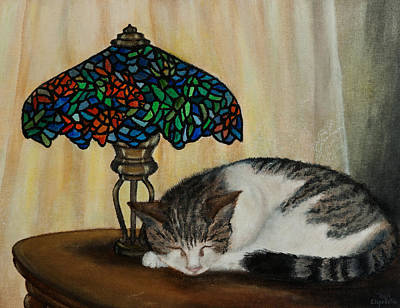 Painting - Calico by Elizabeth Mundaden