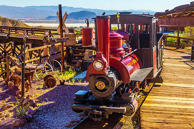 Narrow Gauge Engine Photograph - Calico Ghost Town Train by Garry Gay