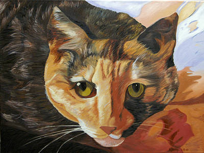 Calico Art Print by Kenneth Young