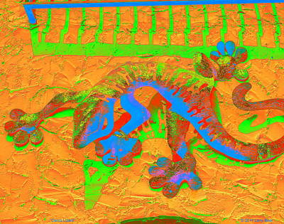 Digital Art - Calico Lizard by Larry Beat