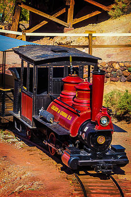 Narrow Gauge Engine Photograph - Calico Odessa Number 5 Train by Garry Gay