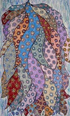 Drawing - Calico Ribbons by Megan Walsh