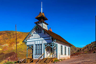 Calico School House Art Print by Garry Gay