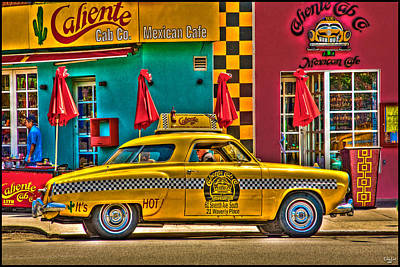 Caliente Cab Co Art Print