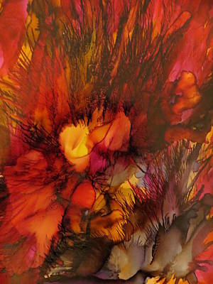 Abstract Painting - Caliente by Soraya Silvestri