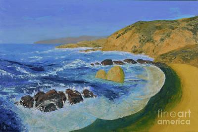 Painting - Calif. Coast by Jack Hedges