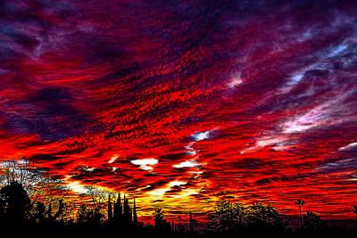 Sunrise In Los Angeles Art Print