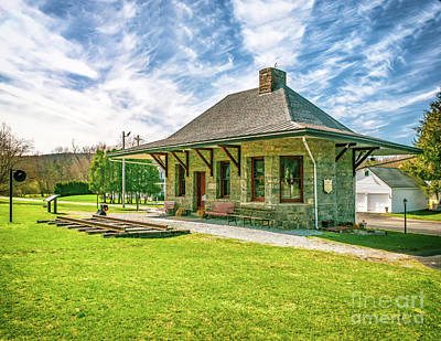 Photograph - Califon Train Station by Nick Zelinsky