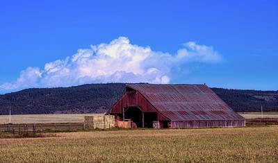 Photograph - California Barn Scene by L O C