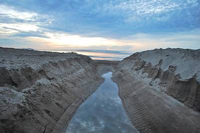 Photograph - California Beach Stream At Sunset by Matt Harang