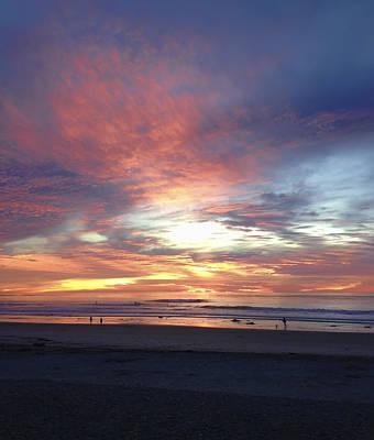 Photograph - California Beach Sunset by Waterdancer
