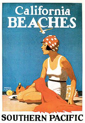 Maurice Painting - California Beaches by Maurice Logan