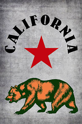 State Of California Digital Art - California Bear by Daniel Hagerman