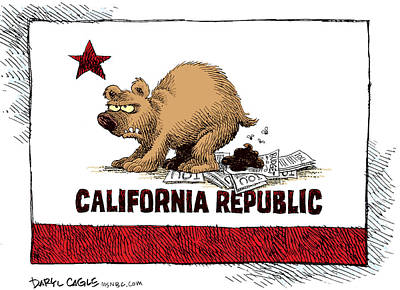 Drawing - California Budget Iou by Daryl Cagle