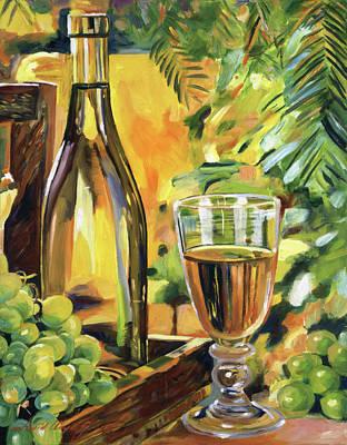 Wineglass Painting - California Chardonnay by David Lloyd Glover