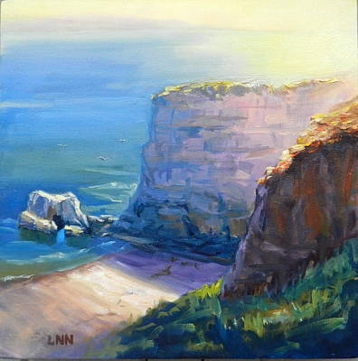 Painting - California Cliffs by Ningning Li