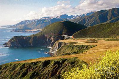 Painting - California Coast -  A View Of Bixby Ap by Dan Carmichael