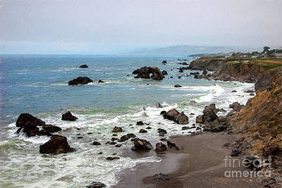 Painting - California Coast -  Arch Rock Bodega Bay Ap by Dan Carmichael