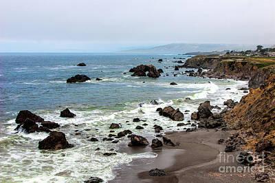 Photograph - California Coast -  Arch Rock Bodega Bay by Dan Carmichael