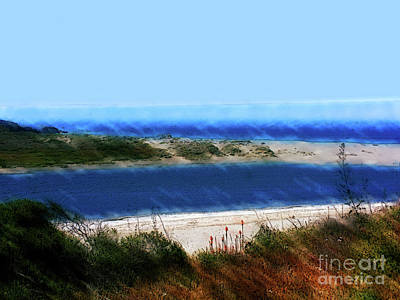 Painting - California Coast At Gualala by Methune Hively