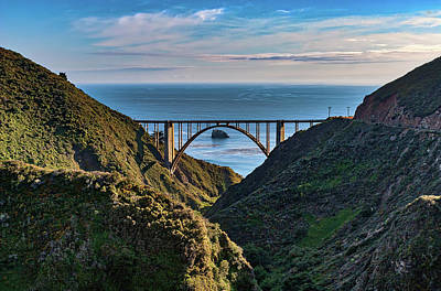 Photograph - California Coast Bixby Bridge A Rare View by Dan Carmichael