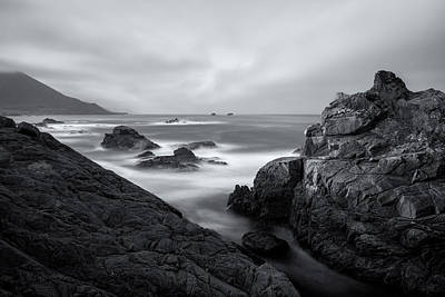 Photograph - California Coast Bw by Jonathan Nguyen
