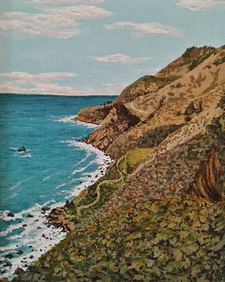 Painting - California Coast by Katherine Young-Beck