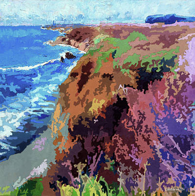 Painting - California Coast Line by John Lautermilch