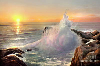 Painting - California Coast by Michael Rock