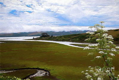 Painting - California Coast -  Open Pastures And Streams Ap by Dan Carmichael