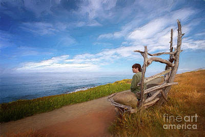 Painting - California Coast - Peaceful Moments Ap by Dan Carmichael