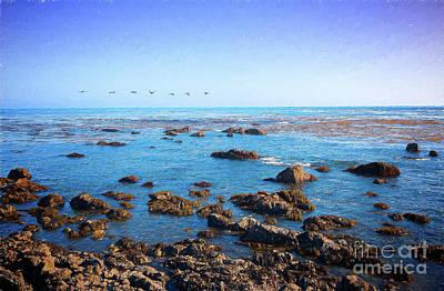 Painting - California Coast -  Rough Waters Ap by Dan Carmichael