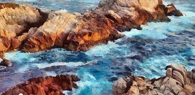Oceanscape Painting - California Coast by Russ Harris
