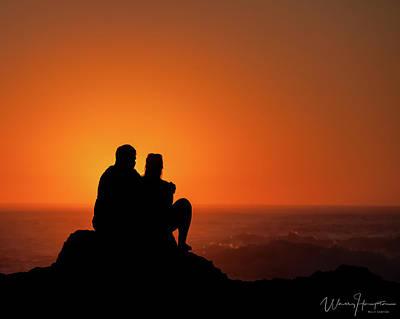 Photograph - California Coast Sunset - 8582,s by Wally Hampton