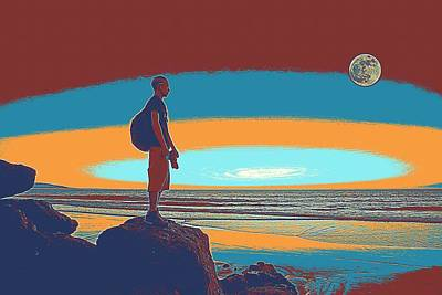 Painting - California Coast Travel Poster by Celestial Images