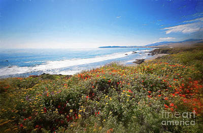 Painting - California Coast -  Wildflowers Ap by Dan Carmichael