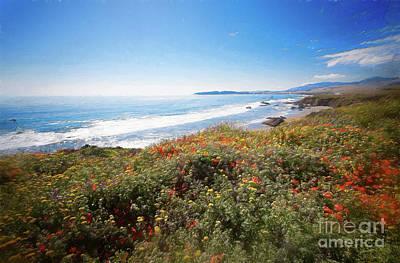Painting - California Coast -  Wildflowers Ap by Dan Carmichael