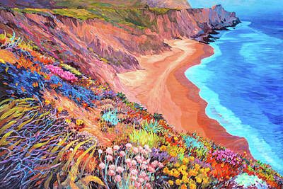 Painting - California Coast Wildflowers by Judith Barath
